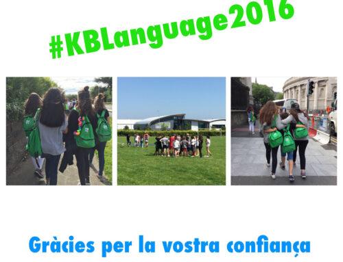 #KBLanguage2016. Gràcies!